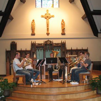 Rehearsal at St. Margaret Mary's in Neenah, WI